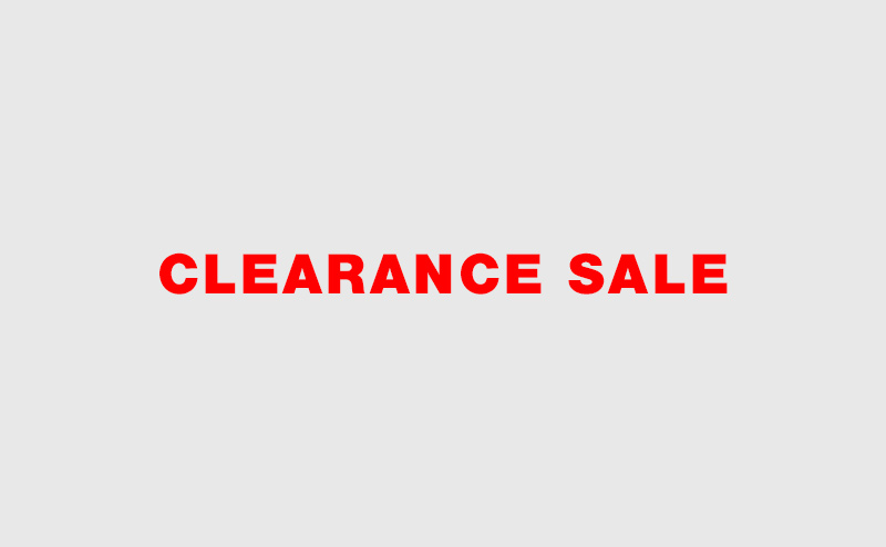 CLEARRANCE SALE